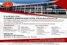 CURSO DE COMPLEMENTACIÓN PEDAGÓGICA