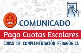 PAGO CUOTAS del Curso de Complementación Pedagógica