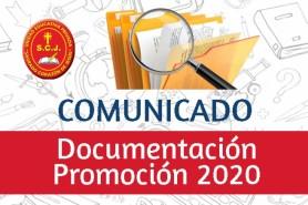 ENTREGA DE DOCUMENTACIÓN - PROMOCIÓN 2020